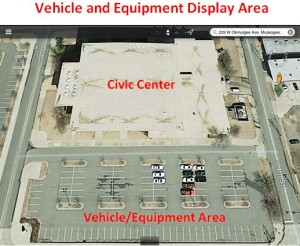 Vehicle and Equipment Display Area